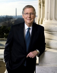 Official photo of United States Senator and Minority Leader Mitch McConnell (R-KY). January 23, 2009.
