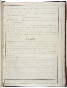 14th Amendment page 1. Author: National Archives of the United States. Credit: NARA