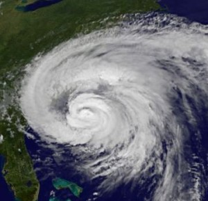 Hurricane Irene Arrives