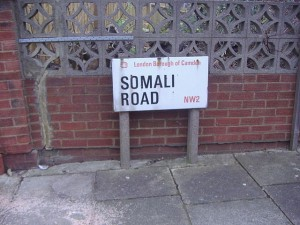 Sign on Somali Road in the London Borough of Camden. January 3, 2008. Author: David Howard, a.k.a. satguru