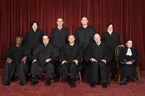 Steve Petteway, Collection of the Supreme Court of the United States The United States Supreme Court, the highest court in the United States, in 2010. Top row (left to right): Associate Justice Sonia Sotomayor, Associate Justice Stephen G. Breyer, Associate Justice Samuel A. Alito, and Associate Justice Elena Kagan. Bottom row (left to right): Associate Justice Clarence Thomas, Associate Justice Antonin Scalia, Chief Justice John G. Roberts, Associate Justice Anthony Kennedy, and Associate Justice Ruth Bader Ginsburg. 8 October 2010  Roberts Court (2010-) - The Oyez Project