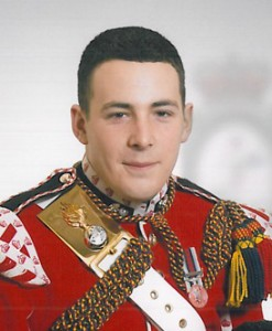 Drummer Lee Rigby of the 2nd Battalion Royal Fusiliers, who was killed in Woolwich in May 2013. derivative version of Ministry of Defence photo.
