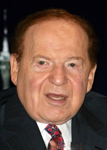 Cropped from File:Sheldon Adelson 21 June 2010.jpg. Original description: Photo of Sheldon Adelson, chairman of Las Vegas Sands and Hong Kong-listed subsidiary Sands China. Photo taken 19 June 2010 in Hong Kong at a press conference held at the Four Seasons Hotel, following China Sands AGM. Author: Bectrigger