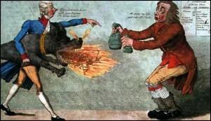 Gilray's cartoon of William Pitt's 1798 income tax
