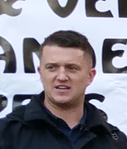 : Tommy Robinson at PEGIDA in Utrecht, Netherlands on 11 October 2015 Author: Targje