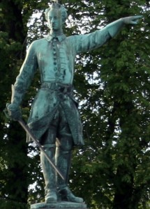 Statue of Charles XII of Sweden at Karl XII:s torg, Stockholm, Sweden. Photo by Tage Olsin  May 24, 2005