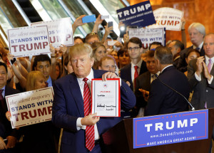 Donald Trump Signs The Pledge September 3, 2015 Author: Michael Vadon